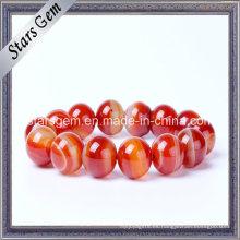Piedras naturales del rojo del Brasil para la joyería de la pulsera
