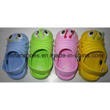 Zapatos lindos del jardín de los niños del diseño simple con precio preferido, deslizadores de la playa de EVA, estorbos casuales