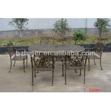 Aluminium Gartenmöbel 7er Set, Gartentisch, Stuhl