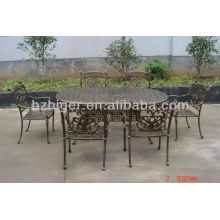 aluminum outdoor furniture 7pc set,outdoor table,chair