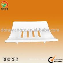square porcelain soap dish