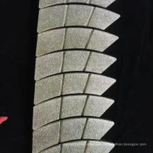 rebolo de diamante galvanizado para pastilhas de freio forro de freio