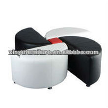 Faux leather Flower ottoman for wedding event furniture used XW1008