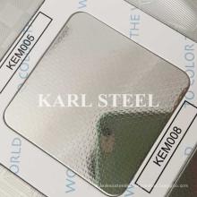 201 Stainless Steel Silver Color Embossed Kem008 Sheet