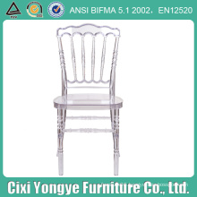 Crystal Resin Napoleon Chair with White Soft Cushion