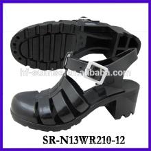 SR-N13WR210-12 (2) sandálias de plástico pvc senhoras sandálias de plástico wholesle sandálias de geléia senhoras