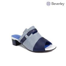 latest design charming blue white slipper sandals