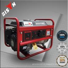 Bison China 1.5kw 4HP 168F ISO9001 Generador de gasolina refrigerado por aire