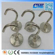 Starker D48X8mm hochwertiger Neodym Permanent Pot Magnet