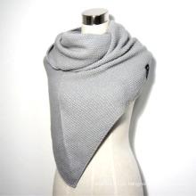 Senhoras inverno moda acrílico tricotado xale triangular (yky4154)