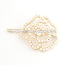 Últimos accesorios populares elegantes populares calientes populares de la horquilla de la flor de la perla de la última