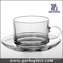 Set de table et de soucoupe en verre / table à thé (TZ-GB09D2406)