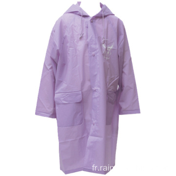 Femmes Summer Long EVA Rain Coat