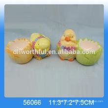 Atacado porco bonito ovo de galinha, ovo de cerâmica decorativos stands