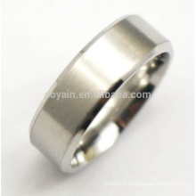 Simple Two Tone Stainless Steel Mens Silver Rings Blanks
