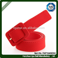 Fashion Red Canvas Wide Waistband