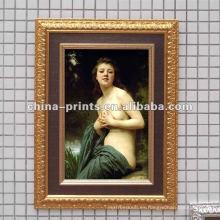 Pintura al óleo desnuda de la mujer
