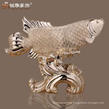 resin fish figure animal figurine real looking lucky fish animal figurine