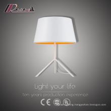 Modern Sliver Tripod Bedside White Table Lighting