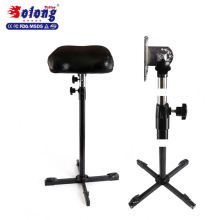 Solong tattoo high quality stainless steel black tattoo arm leg rest