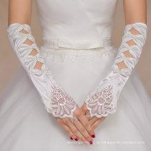 Aoliweiya Hochzeit Zubehör Satin Lange Bridal Handschuh