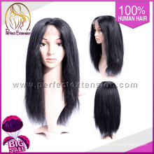 For African American Italy Virgin Remy Natural Yaki Lace Full Wig