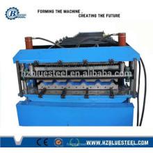 Утюг лист гофрированный двойной палубе крыша плита производитель машины производственной линии / Self Lock