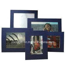 Blue Textured Art Paper Photo Frame Assorted Color Art Paper Promotional Gift Frames