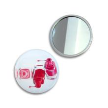 Miroir de voyage de cadeaux promotionnels fait main d'impression du miroir 4c de 58mm