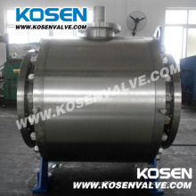 Forged Steel Flange Trunnion Ball Valves with Gear Box