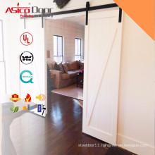 42 in. x 84 in. Z-Bar Knotty Alder Interior Barn Door Slab with Sliding Door Hardware Kit
