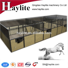 Bamboo board metal horse fence stable with sliding door