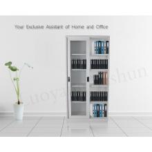 glass sliding door cabinet with adjustable shelves