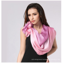 Lingshang spring and summer thin cape classic gradient color female silk long design scarf