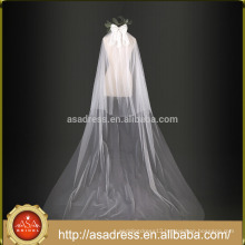 Elegant Lace Bow Two-Layer Wedding Veils in Stock Ivory Wedding Veil 2017 New Arrival (WV3)