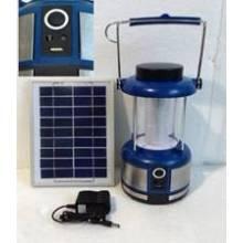 Gran potencia y brillo 4W Solar LED luz lámpara linterna con radio FM