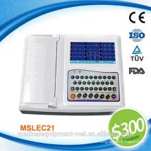 Coupon disponible! Medical portable 12 canaux ecg machine numérique - MSLEC21-N