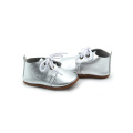 Grossist Oxford Shoes Sliver Leather Babyskor
