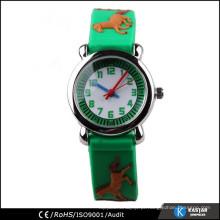 Relógios de animais em relevo, relógio de silício promocional
