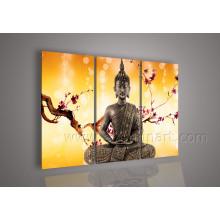 Arte moderno del aceite de la pintura de Buda del arte en la lona para la decoración casera (BU-015)