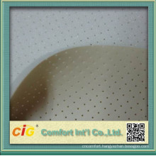 pu bonded leather/pu sponge leather/smooth leather with foam