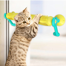 Cat interactive amusement toy with suction cup orbital ball can be used as cat climbing frame