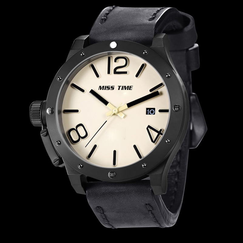 Custom watch face quartz movmenet sport bracelet for men