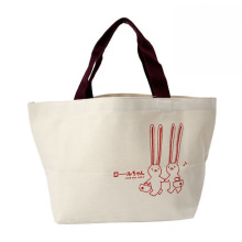High quality and reuseful waxed canvas shopping bag