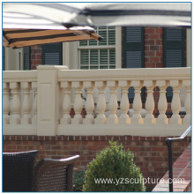 Outdoor White Marble Balustrade For Home Decoration