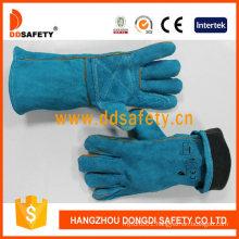 Best Selling Blue Cow Split Welding Gloves