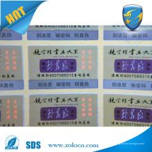 La más nueva etiqueta ULTRAVIOLETA de la seguridad 3D del OEM Etiqueta engomada de la seguridad de la impresión