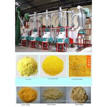 25 machines de fraisage de farine de maïs T / 24h, usine de fraisage du maïs