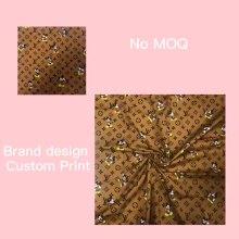 Ткань для детской ткани из хлопкового твила и поплина с индивидуальным принтом