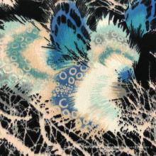 Жаккардовая полиэфирная ткань для свитера с грубыми иглами нового дизайна